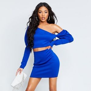 Puff Sleeve Crop and Mini Skirt Co-ord